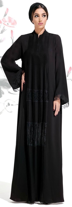 Une abaya noire classique